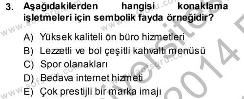 Satış Teknikleri Dersi 2013 - 2014 Yılı Ara Sınavı 3. Soru