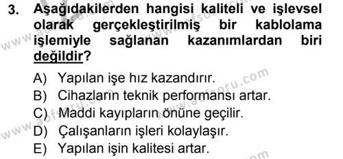 Radyo ve Televizyonda Ölçü Bakım Dersi 2012 - 2013 Yılı (Vize) Ara Sınav Soruları 3. Soru