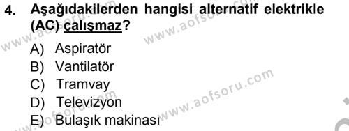 Radyo ve Televizyonda Ölçü Bakım Dersi 2012 - 2013 Yılı (Vize) Ara Sınav Soruları 4. Soru