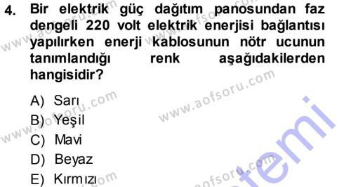 Radyo ve Televizyonda Ölçü Bakım Dersi 2013 - 2014 Yılı (Final) Dönem Sonu Sınav Soruları 4. Soru