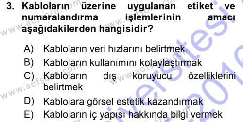 Radyo ve Televizyonda Ölçü Bakım Dersi 2015 - 2016 Yılı (Final) Dönem Sonu Sınav Soruları 3. Soru