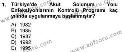 Sosyal Hizmet Bölümü 2. Yarıyıl Anne Çocuk Sağlığı Ve İlkyardım Dersi 2013 Yılı Bahar Dönemi Ara Sınavı 1. Soru