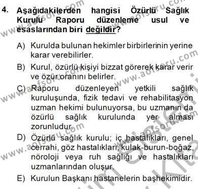 Tıbbi Belgeleme Dersi 2013 - 2014 Yılı (Final) Dönem Sonu Sınav Soruları 4. Soru
