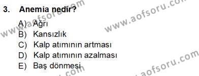 Sağlık Yönetimi Bölümü 5. Yarıyıl Tıbbi Terminoloji Dersi 2013 Yılı Güz Dönemi Ara Sınavı 3. Soru