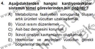 Sağlık Yönetimi Bölümü 5. Yarıyıl Tıbbi Terminoloji Dersi 2014 Yılı Güz Dönemi Tek Ders Sınavı 4. Soru