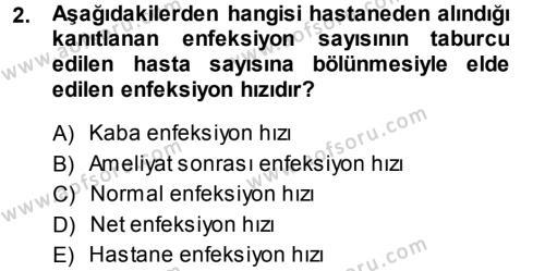 Sağlık Kurumları Yönetimi 1 Dersi 2013 - 2014 Yılı (Final) Dönem Sonu Sınav Soruları 2. Soru