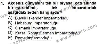 Kültürel Miras ve Turizm Bölümü 3. Yarıyıl Akdeniz Uygarlıkları Sanatı Dersi 2013 Yılı Güz Dönemi Ara Sınavı 1. Soru