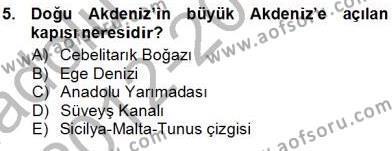 Kültürel Miras ve Turizm Bölümü 3. Yarıyıl Akdeniz Uygarlıkları Sanatı Dersi 2013 Yılı Güz Dönemi Ara Sınavı 5. Soru
