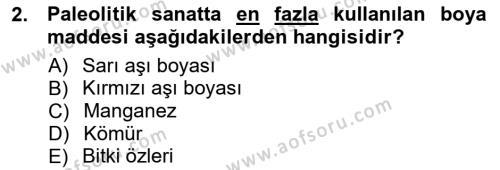 Akdeniz Uygarlıkları Sanatı Dersi 2012 - 2013 Yılı Dönem Sonu Sınavı 2. Soru