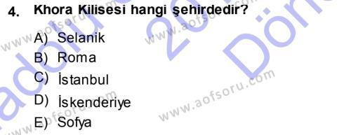 Kültürel Miras ve Turizm Bölümü 3. Yarıyıl Akdeniz Uygarlıkları Sanatı Dersi 2014 Yılı Güz Dönemi Dönem Sonu Sınavı 4. Soru
