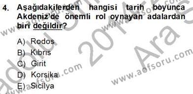 Akdeniz Uygarlıkları Sanatı Dersi 2014 - 2015 Yılı Ara Sınavı 4. Soru