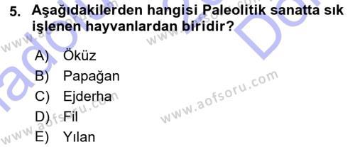 Kültürel Miras ve Turizm Bölümü 3. Yarıyıl Akdeniz Uygarlıkları Sanatı Dersi 2016 Yılı Güz Dönemi Dönem Sonu Sınavı 5. Soru