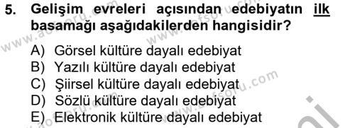 Radyo ve Televizyon Programcılığı Bölümü 4. Yarıyıl Güzel Sanatlar Dersi 2013 Yılı Bahar Dönemi Ara Sınavı 5. Soru