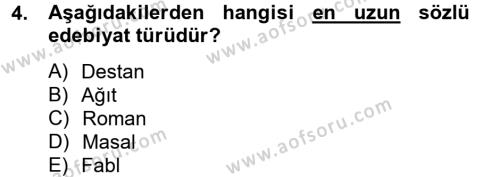 Güzel Sanatlar Dersi 2012 - 2013 Yılı Dönem Sonu Sınavı 4. Soru