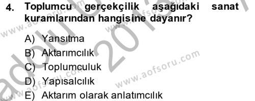 İngilizce Öğretmenliği Bölümü 4. Yarıyıl Güzel Sanatlar Dersi 2014 Yılı Bahar Dönemi Ara Sınavı 4. Soru