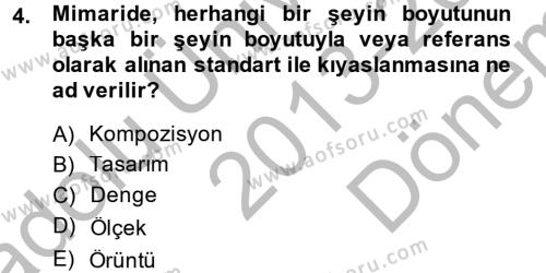 Güzel Sanatlar Dersi 2013 - 2014 Yılı Dönem Sonu Sınavı 4. Soru