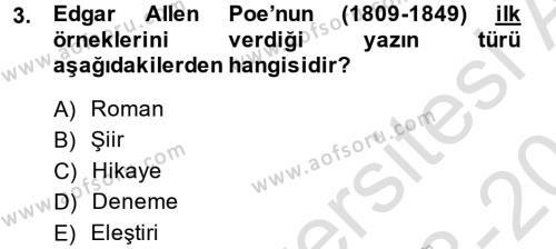 Felsefe Bölümü 4. Yarıyıl Güzel Sanatlar Dersi 2014 Yılı Bahar Dönemi Tek Ders Sınavı 3. Soru