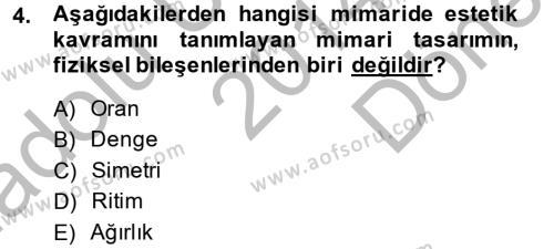 Felsefe Bölümü 4. Yarıyıl Güzel Sanatlar Dersi 2015 Yılı Bahar Dönemi Dönem Sonu Sınavı 4. Soru