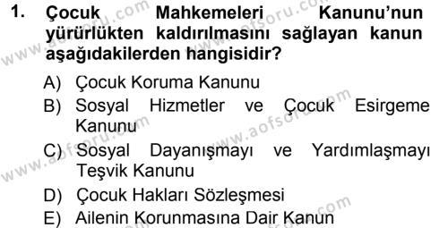 Sosyal Bilimler Bölümü 1. Yarıyıl Sosyal Hizmete Giriş Dersi 2013 Yılı Güz Dönemi Dönem Sonu Sınavı 1. Soru