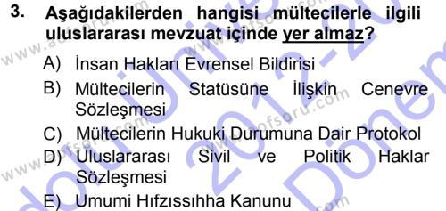 Sosyal Hizmete Giriş Dersi 2012 - 2013 Yılı Dönem Sonu Sınavı 3. Soru