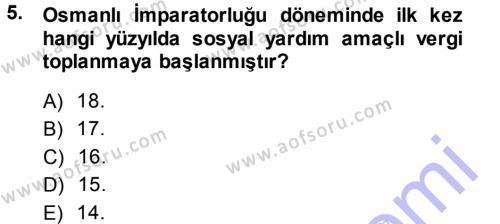 Sosyal Hizmet Bölümü 1. Yarıyıl Sosyal Hizmete Giriş Dersi 2014 Yılı Güz Dönemi Ara Sınavı 5. Soru