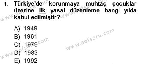 Sosyal Bilimler Bölümü 1. Yarıyıl Sosyal Hizmete Giriş Dersi 2014 Yılı Güz Dönemi Dönem Sonu Sınavı 1. Soru