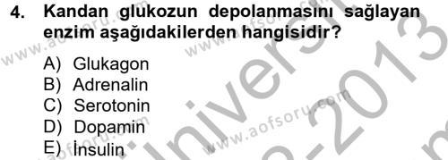Temel Sağlık Hizmetleri Dersi 2012 - 2013 Yılı Dönem Sonu Sınavı 4. Soru
