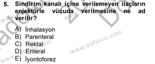 Sosyal Hizmetler Bölümü 2. Yarıyıl Temel Sağlık Hizmetleri Dersi 2013 Yılı Bahar Dönemi Dönem Sonu Sınavı 5. Soru