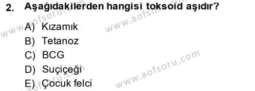Sosyal Bilimler Bölümü 2. Yarıyıl Temel Sağlık Hizmetleri Dersi 2014 Yılı Bahar Dönemi Ara Sınavı 2. Soru