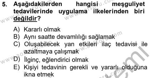 Sosyal Bilimler Bölümü 2. Yarıyıl Temel Bakım Hizmetleri Dersi 2013 Yılı Bahar Dönemi Dönem Sonu Sınavı 5. Soru
