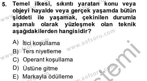 Sosyal Bilimler Bölümü 2. Yarıyıl Temel Bakım Hizmetleri Dersi 2014 Yılı Bahar Dönemi Dönem Sonu Sınavı 5. Soru