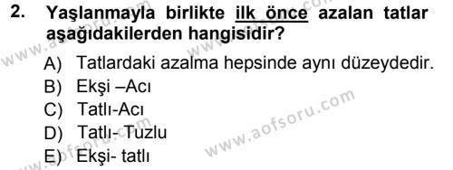 Yaşlı ve Hasta Bakım Hizmetleri Dersi 2012 - 2013 Yılı Ara Sınavı 2. Soru