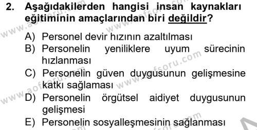 Sosyal Bilimler Bölümü 4. Yarıyıl Sosyal Hizmet Yönetimi Dersi 2013 Yılı Bahar Dönemi Ara Sınavı 2. Soru