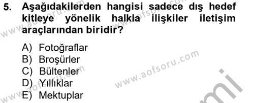 Sosyal Bilimler Bölümü 4. Yarıyıl Sosyal Hizmet Yönetimi Dersi 2013 Yılı Bahar Dönemi Ara Sınavı 5. Soru