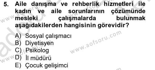 Sosyal Hizmet Bölümü 4. Yarıyıl Sosyal Hizmet Yönetimi Dersi 2014 Yılı Bahar Dönemi Tek Ders Sınavı 5. Soru