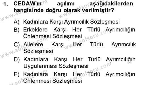 Sosyal Hizmet Mevzuatı Dersi 2013 - 2014 Yılı Dönem Sonu Sınavı 1. Soru