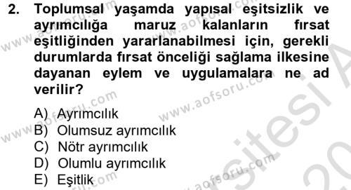 Sosyal Bilimler Bölümü 4. Yarıyıl Sosyal Hizmet Mevzuatı Dersi 2014 Yılı Bahar Dönemi Tek Ders Sınavı 2. Soru