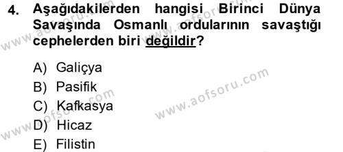 Sosyoloji Bölümü 2. Yarıyıl Türk Siyasal Hayatı Dersi 2014 Yılı Bahar Dönemi Ara Sınavı 4. Soru