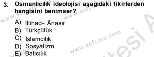 Türk Siyasal Hayatı Dersi 2014 - 2015 Yılı Tek Ders Sınav Soruları 3. Soru