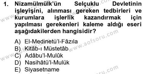 Kamu Yönetimi Bölümü 3. Yarıyıl Siyaset Bilimi Dersi 2013 Yılı Güz Dönemi Dönem Sonu Sınavı 1. Soru