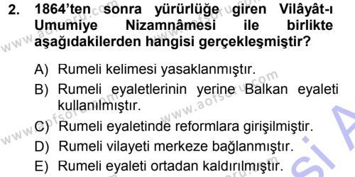 Balkanlar´da Siyaset Dersi 2012 - 2013 Yılı Dönem Sonu Sınavı 2. Soru