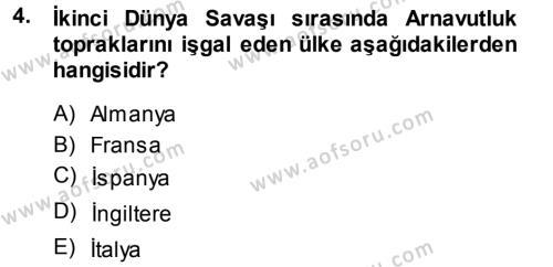 Balkanlar´da Siyaset Dersi 2013 - 2014 Yılı Tek Ders Sınav Soruları 4. Soru