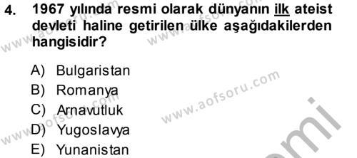 Balkanlar´da Siyaset Dersi 2014 - 2015 Yılı (Final) Dönem Sonu Sınav Soruları 4. Soru