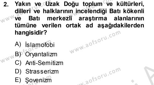 Balkanlar´da Siyaset Dersi 2014 - 2015 Yılı Tek Ders Sınav Soruları 2. Soru