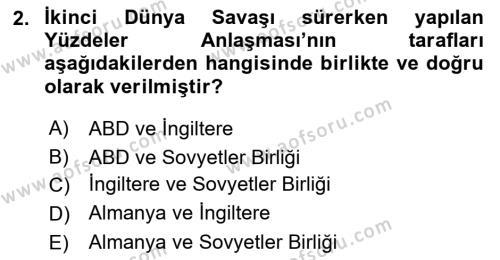 Balkanlar´da Siyaset Dersi 2016 - 2017 Yılı (Final) Dönem Sonu Sınav Soruları 2. Soru