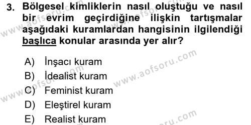 Balkanlar´da Siyaset Dersi 2017 - 2018 Yılı (Vize) Ara Sınav Soruları 3. Soru