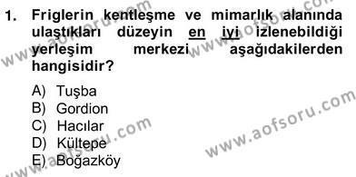 Tarih Bölümü 8. Yarıyıl Sanat Tarihi Dersi 2013 Yılı Bahar Dönemi Ara Sınavı 1. Soru