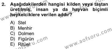 Tarih Bölümü 8. Yarıyıl Sanat Tarihi Dersi 2013 Yılı Bahar Dönemi Ara Sınavı 2. Soru
