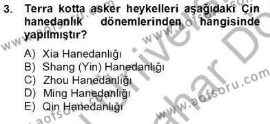 Tarih Bölümü 8. Yarıyıl Sanat Tarihi Dersi 2013 Yılı Bahar Dönemi Dönem Sonu Sınavı 3. Soru