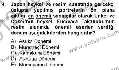 Tarih Bölümü 8. Yarıyıl Sanat Tarihi Dersi 2013 Yılı Bahar Dönemi Dönem Sonu Sınavı 4. Soru